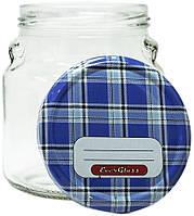 Банка стеклянная  550 мл./82 с металлической крышкой для консервации