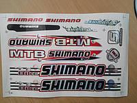 Наклейки на велосипед. Набор Shimano, фото 1