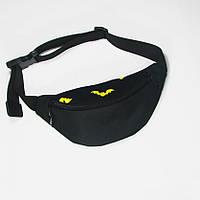Черная поясная сумка TwinsStore с принтом Batman, БД47