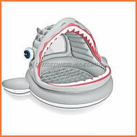Детский надувной бассейн Акула Intex 57120, размер 201х198х109 см