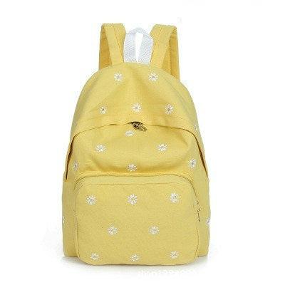 Молодежный рюкзак с рисунком ромашек