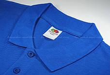Мужское Поло Премиум Fruit of the loom Ярко-Синее 63-218-51 S, фото 2