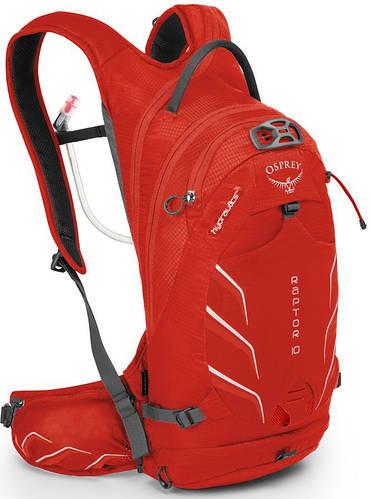 Практичный велорюкзак на 10 л. Osprey Raptor 10 красный