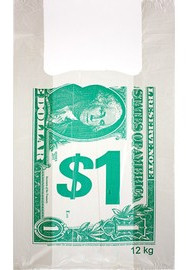 Пакет поліетиленовий-майка Долар 26*45 см, 2500 шт.