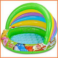 Детский надувной бассейн Intex 57424 «Винни Пух» c навесом