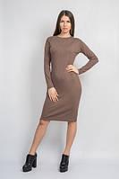 Платье меланжевое кофейного цвета
