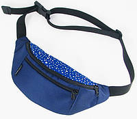 Синяя поясная сумка TwinsStore с принтом звезд, Б48