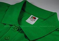 Мужское Поло Премиум Fruit of the loom Ярко-Зелёное 63-218-47 S, фото 2