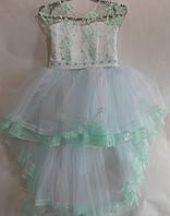 Платье нарядное шлейф  р.3-5 и 6-8 лет