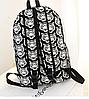 Черно-белый городской рюкзак с тиграми, фото 3