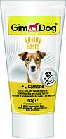 Витаминная паста GimDog Vitality Paste для собак с L-карнитином, 50 г