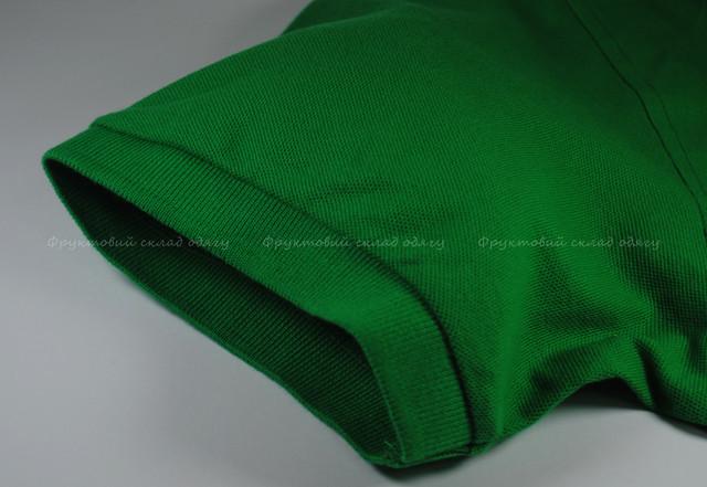 Ярко-зелёное мужское поло 100% хлопок
