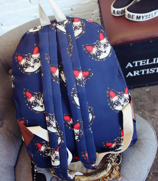 рюкзак с рисунком котиков
