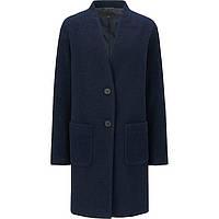 Женское темно-синее шерстяное пальто на пуговицах осень /весна  японский бренд Uniqlo
