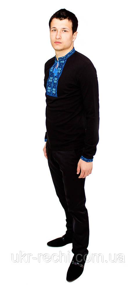 Чорна футболка з довгим рукавом b639c86f126f6