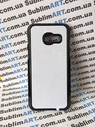 Чехол для 2D сублимации пластиковый на Samsung Galaxy A3 (2017) черный, фото 2