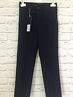 Детские синие классические брюки 122-140