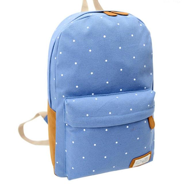 Модный рюкзак в горошек