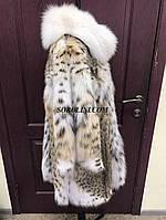 Шикарная шубка из меха рыси, воротник стойка, в наличии 44 размер в шоу руме г.Харькова