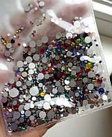 Камни SWAROVSKI микс разноцветные 1440 шт, разные размеры