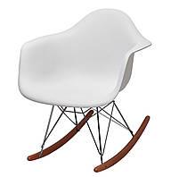 """Кресло """" Лаунж """", белый пластик"""