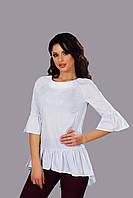 """Асимметричная женская блуза """"Sherie"""" с оборками и пуговицами на спине (2 цвета)"""