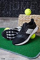 Мужские кроссовки для бега и спорта черные текстиль