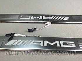 AMG Накладки на пороги с подсветкой Mercedes S S-Class купе W217 C217 2015+ Новые Оригинальные