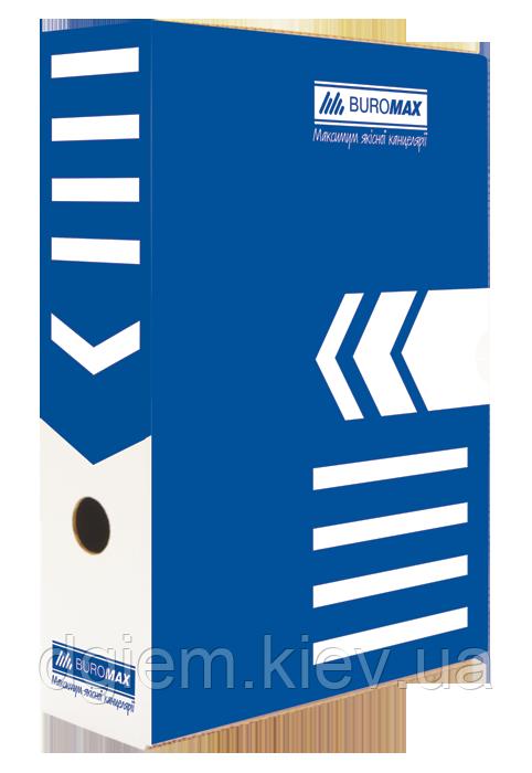 Бокс архівний 80мм BUROMAX синій
