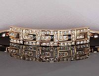Браслет с кристаллами Swarovski, покрытый золотом (702810)