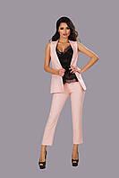 """Летний женский деловой костюм """"Collie"""" с укороченными брюками и жилетом (5 цветов)"""