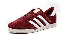 Кроссовки мужские Adidas Beckenbauer Allround, бордовые, замша, р. 42 43 44