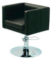 Кресло парикмахерское Марс черное, искусственная кожа поворотное с гидроподъемником