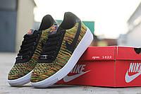 Мужские кроссовки Nike Airforce, плотная дышащая сетка, зеленые / кроссовки мужские Найк Аирфорс, стильные