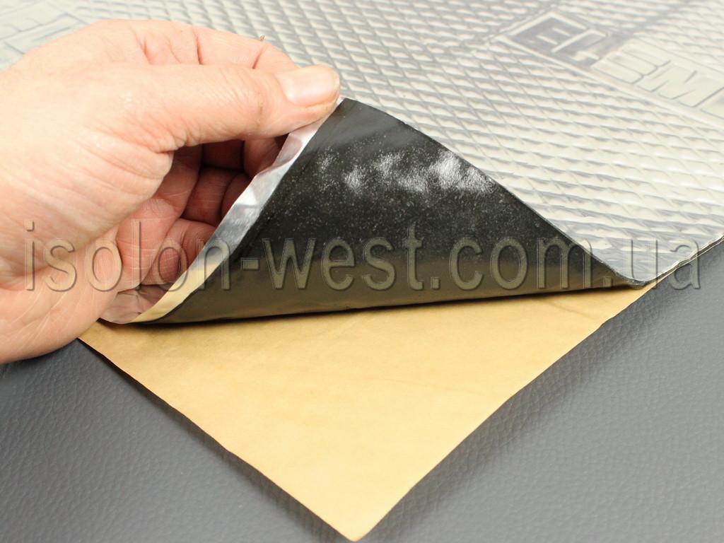 Виброизоляция Element II, размер 50 х 70 см, толщина 2.2 мм.