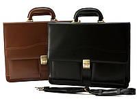 Мужской кожаный портфель Cavaldi A4 натуральная кожа, фото 1