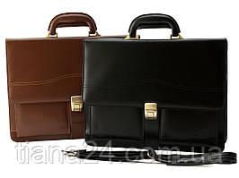 Мужской кожаный портфель Cavaldi A4 натуральная кожа