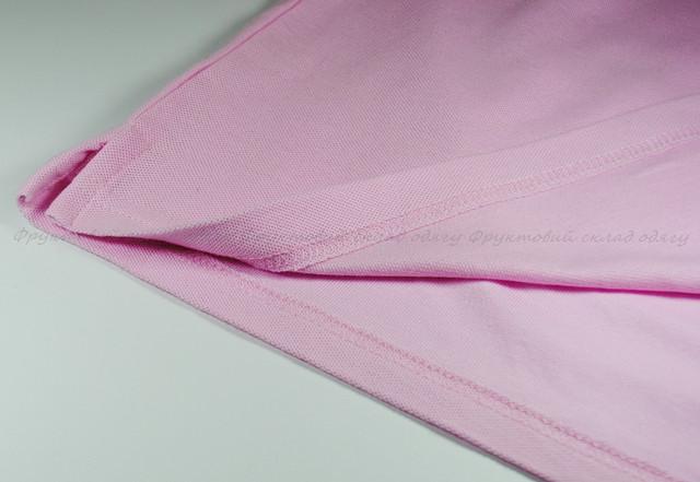 Светло-розовое мужское поло 100% хлопок