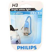 Галогенная лампа Philips Crystal Vision H3 12V 55W (12336CVB1)