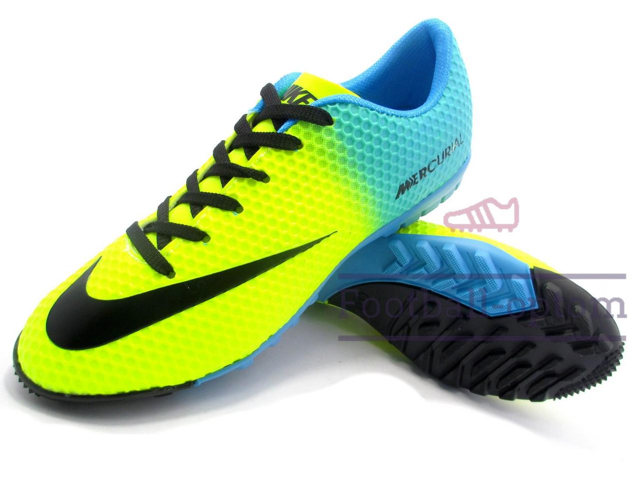 f1e8d95fe457d3 Сороконожки Nike Mercurial\Найк Меркуриал, желто-синие, к11533 - Футбольный  супермаркет