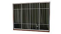 Раздвижная система шкафа купе с комбинированными фасадами. Ручка А119. Габариты 3600(Ш) х 2800(В) 4дв. зеркало, фото 1