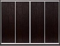 Конструктор из алюминиевых профилей для сборки шкафа купе на 4 двери. Ручка А107. Габариты 2800(Ш) х 2200(В).
