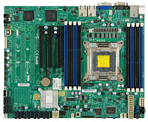 "Материнская плата Supermicro X9SRi-F s.2011  Intel C602 DDR3 ""Over-Stock"""