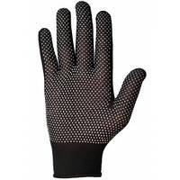 Перчатки нейлоновые с ПВХ точкой черные