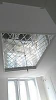 Зеркальные потолки с  фацетом , изготовление, установка