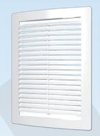 Решётка вентиляционная цилиндрическая с сеткой декоративная АБС150х200 , белая