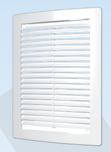 Решётка вентиляционная цилиндрическая с сеткой декоративная АБС150х150 , белая