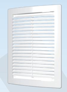 Решётка вентиляционная цилиндрическая с сеткой декоративная АБС180х250 , белая - А1-ТРЕЙД в Днепре