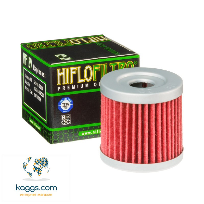Масляный фильтр Hiflo HF139 для Arctic Cat, CCM, Kawasaki, Suzuki.