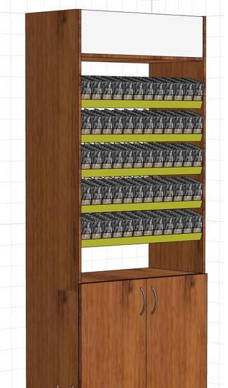 Шкаф сигаретный  Диспенсер для сигарет